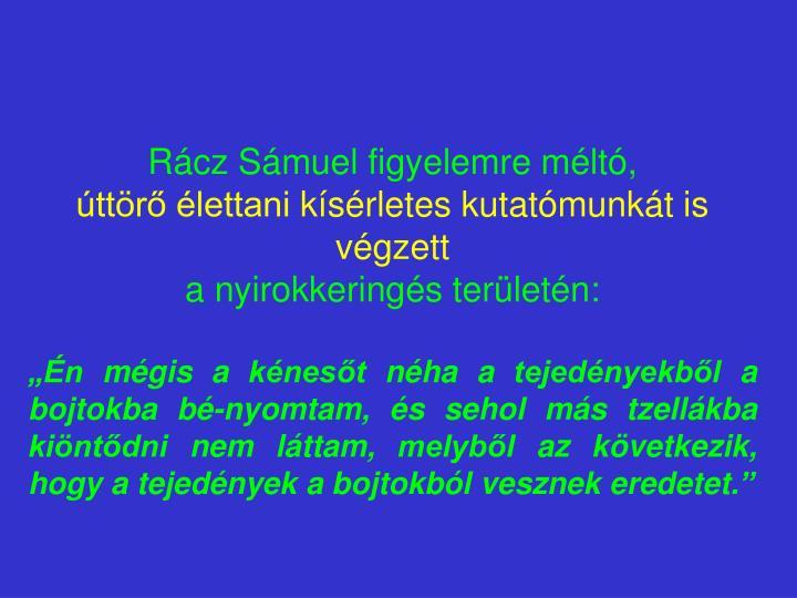 Rácz Sámuel f