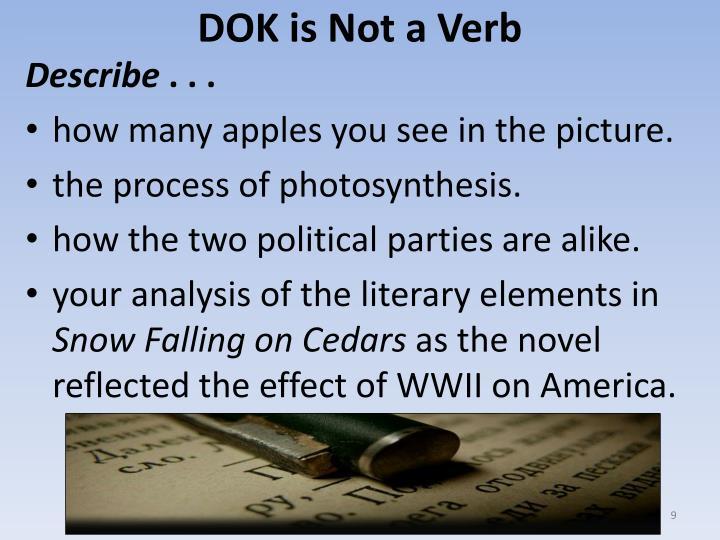 DOK is Not a Verb