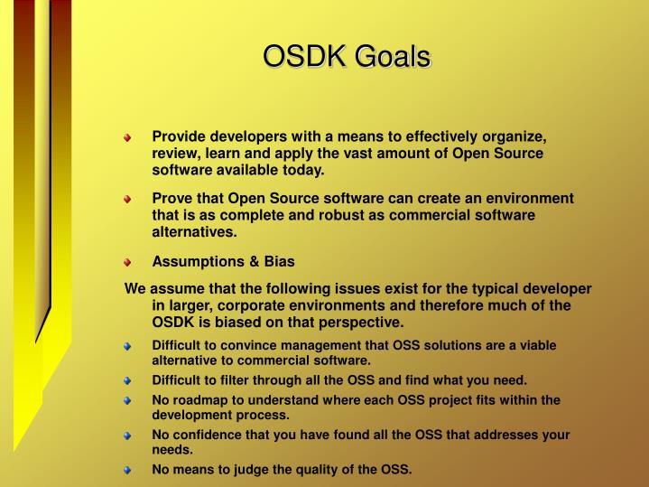 OSDK Goals