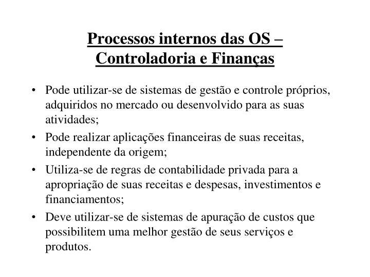 Processos internos das OS –