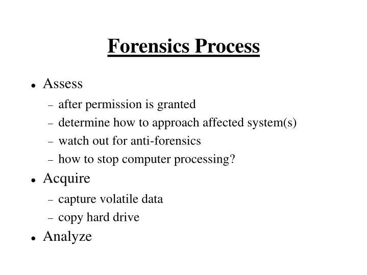 Forensics Process