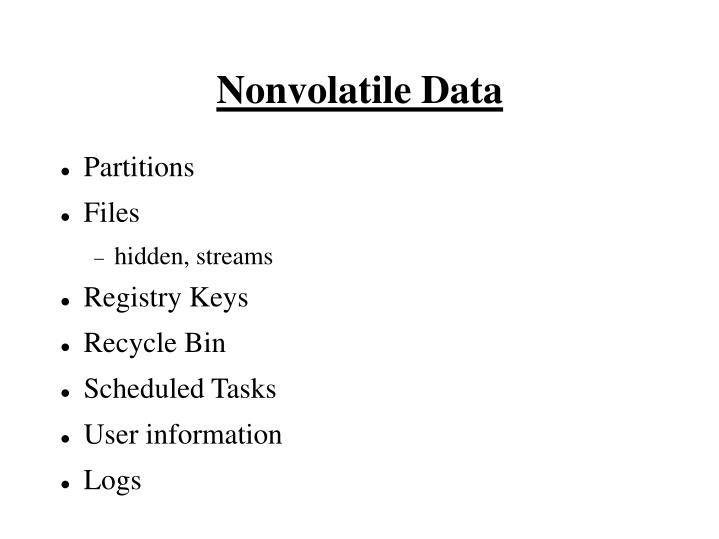 Nonvolatile Data