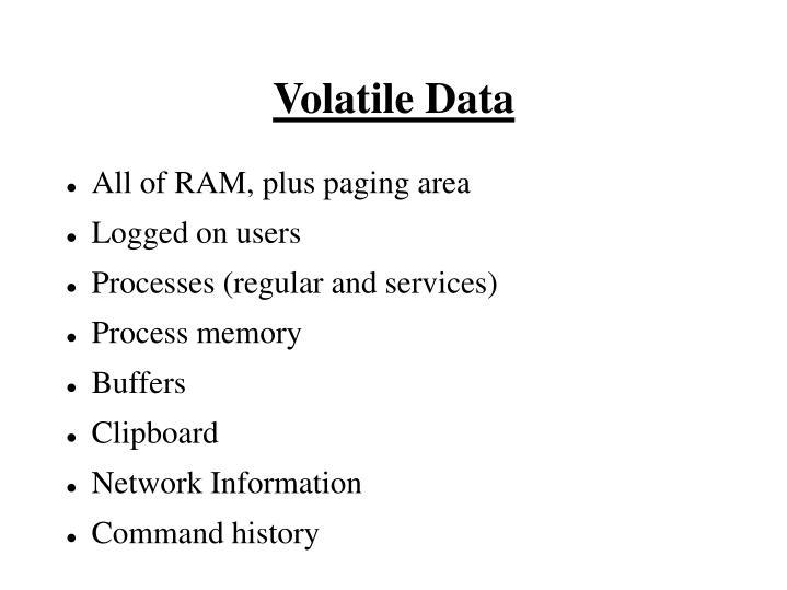 Volatile Data