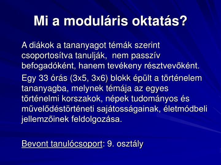 Mi a moduláris oktatás?
