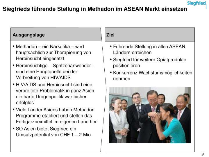 Siegfrieds führende Stellung in Methadon im ASEAN Markt einsetzen