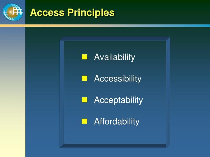 Access Principles