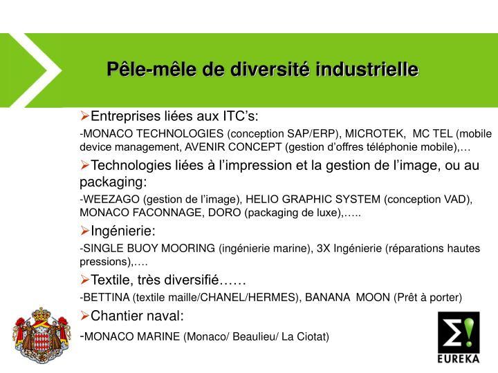 Pêle-mêle de diversité industrielle