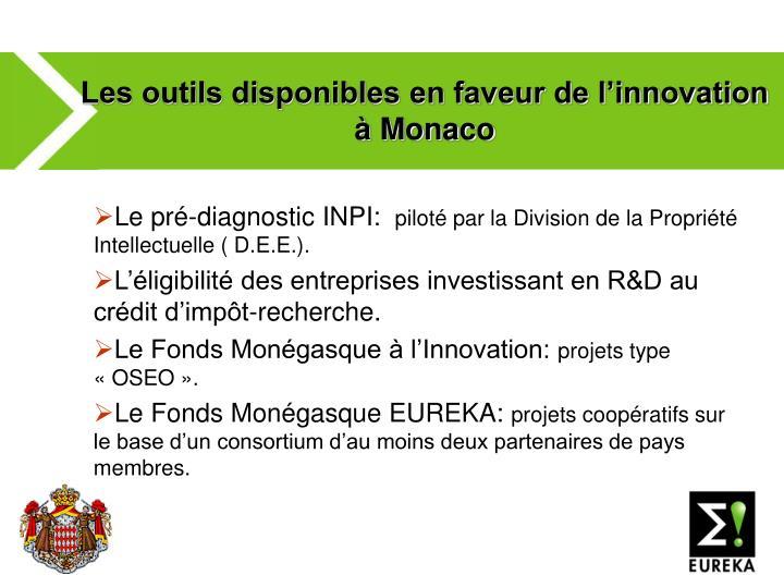 Les outils disponibles en faveur de l'innovation à Monaco