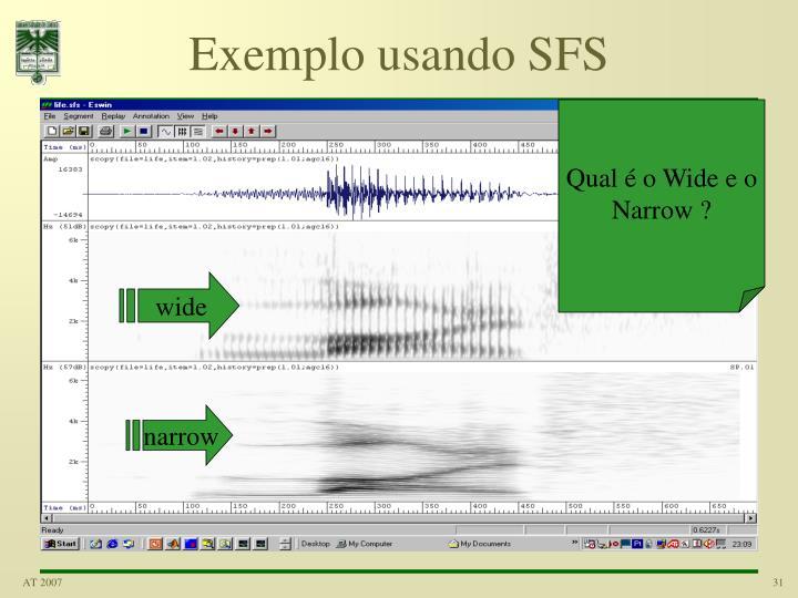 Exemplo usando SFS