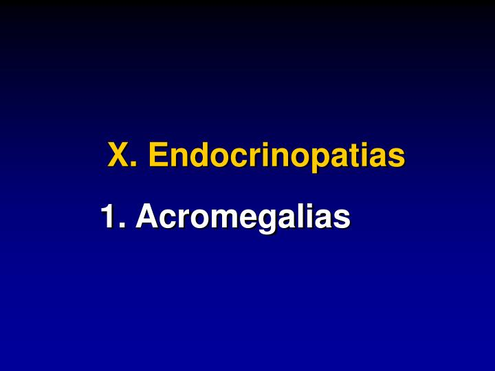 X. Endocrinopatias