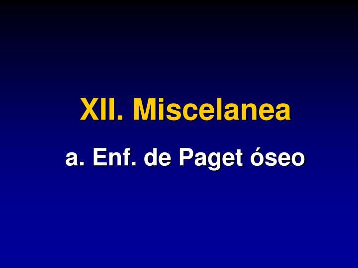 XII. Miscelanea