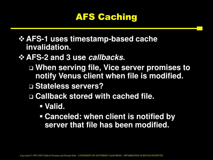 AFS Caching