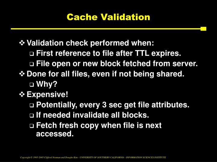Cache Validation