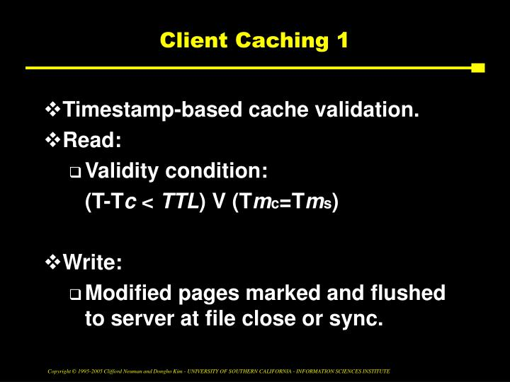 Client Caching 1