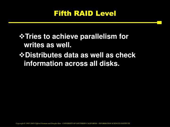 Fifth RAID Level