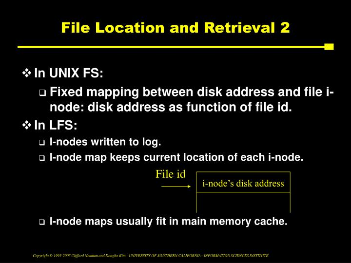 File Location and Retrieval 2