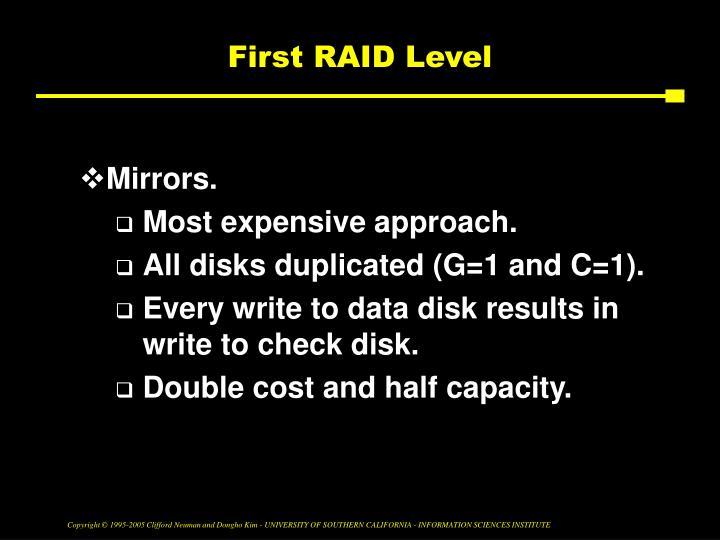 First RAID Level