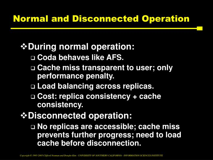 Normal and Disconnected Operation