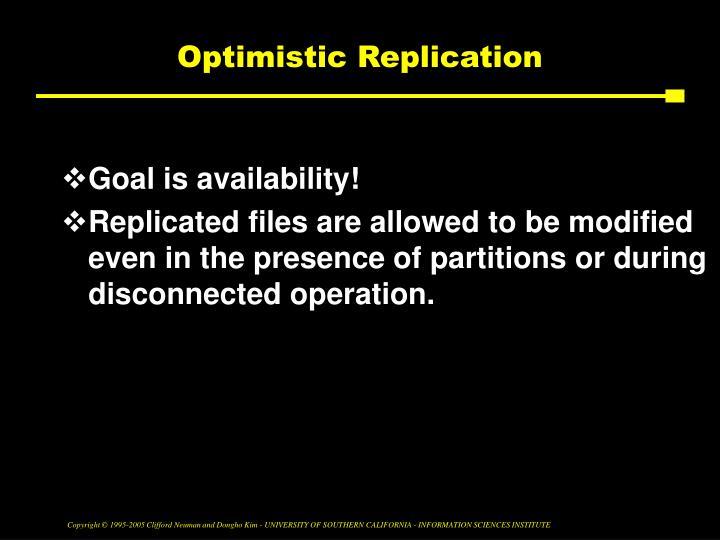Optimistic Replication
