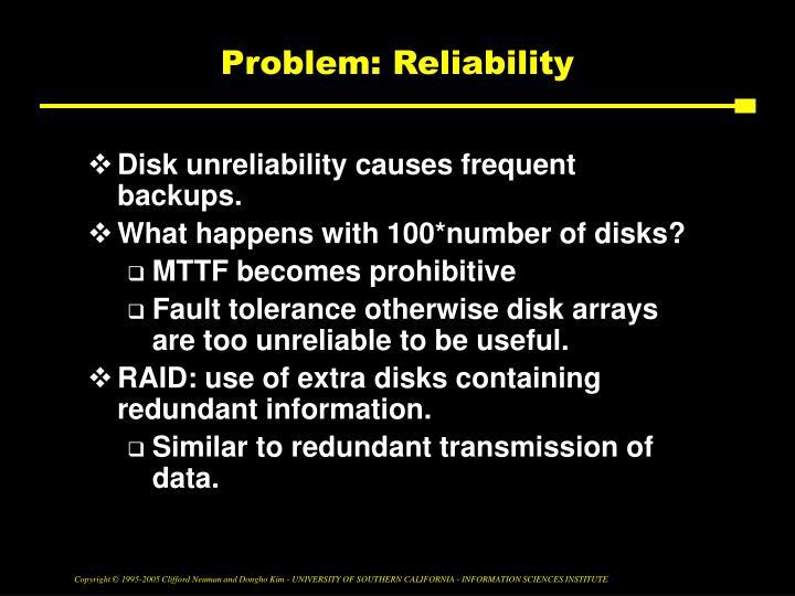 Problem: Reliability