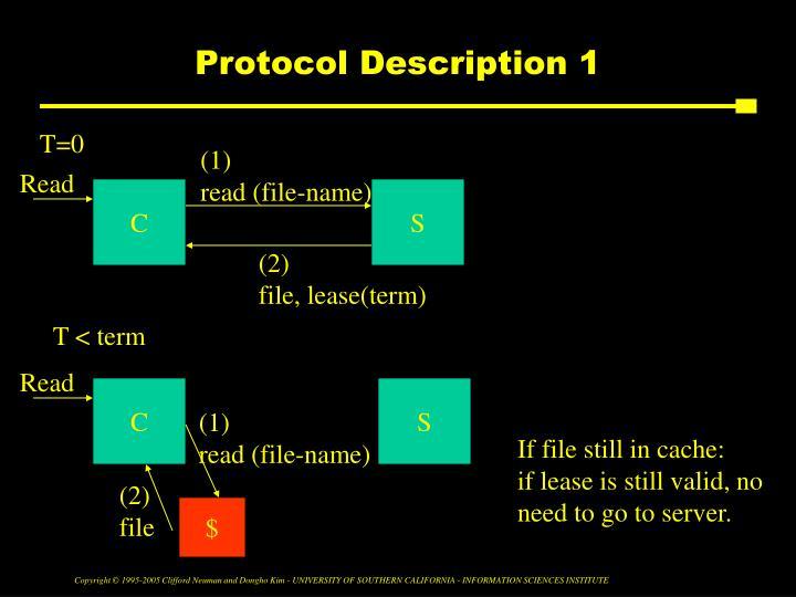 Protocol Description 1