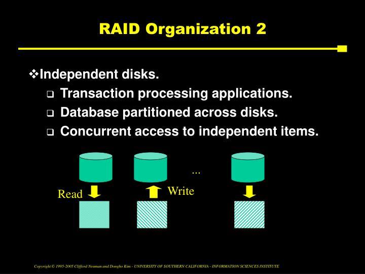 RAID Organization 2