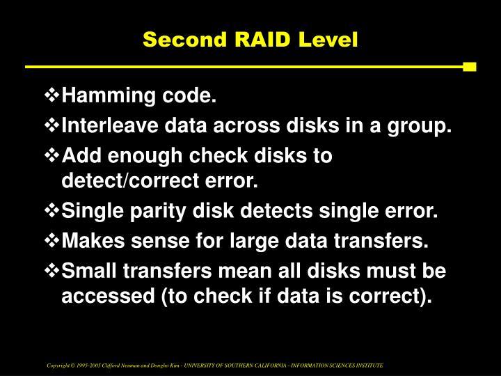 Second RAID Level