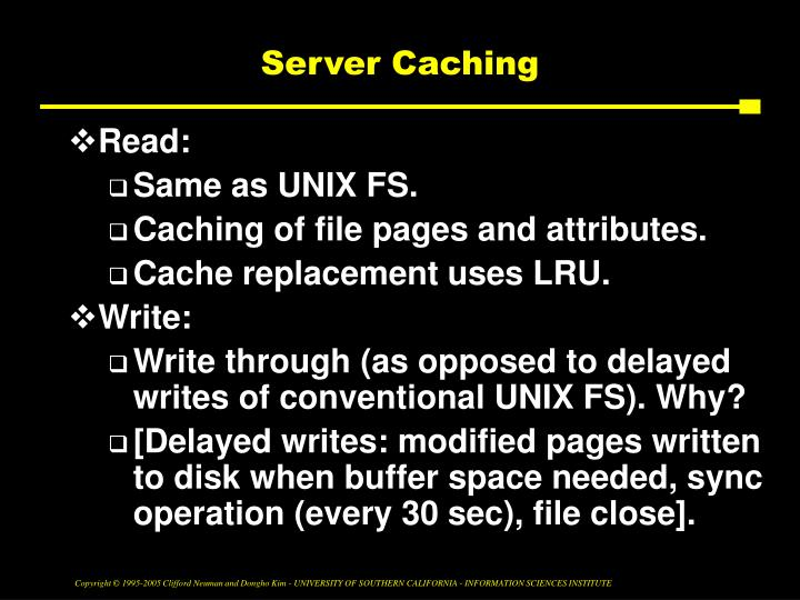 Server Caching