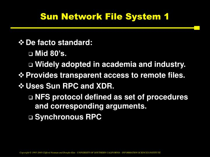 Sun Network File System 1
