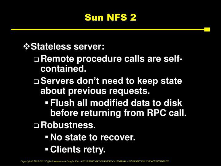 Sun NFS 2