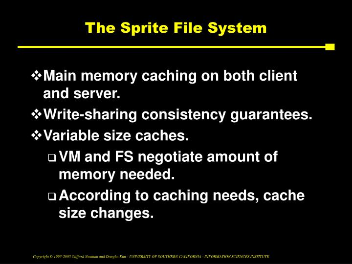 The Sprite File System