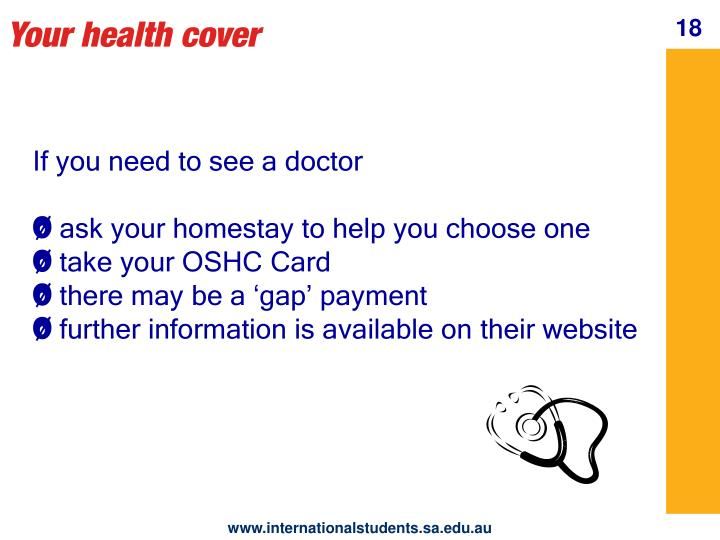Your health cover