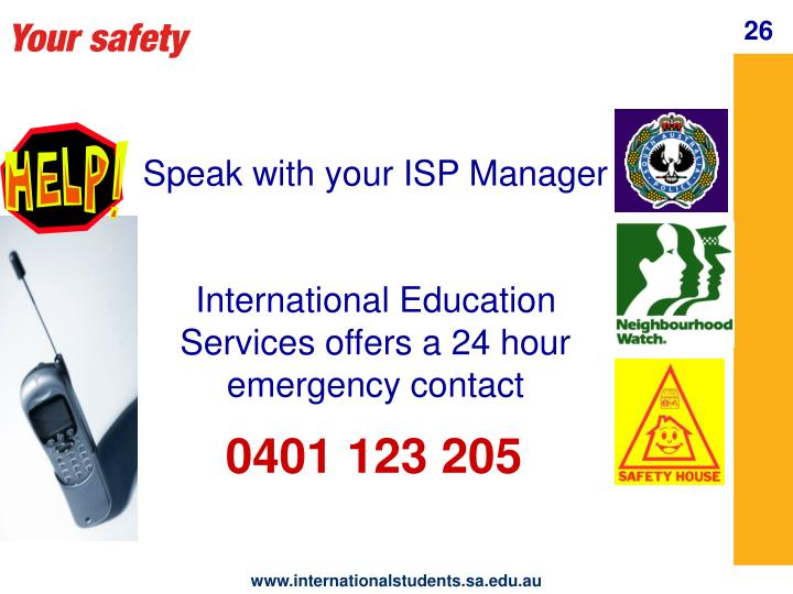 Your safety