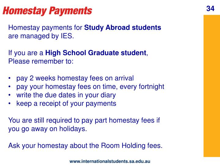 Homestay Payments
