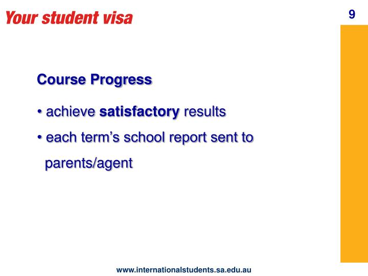 Your student visa