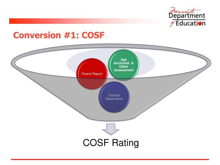 Conversion #1: COSF