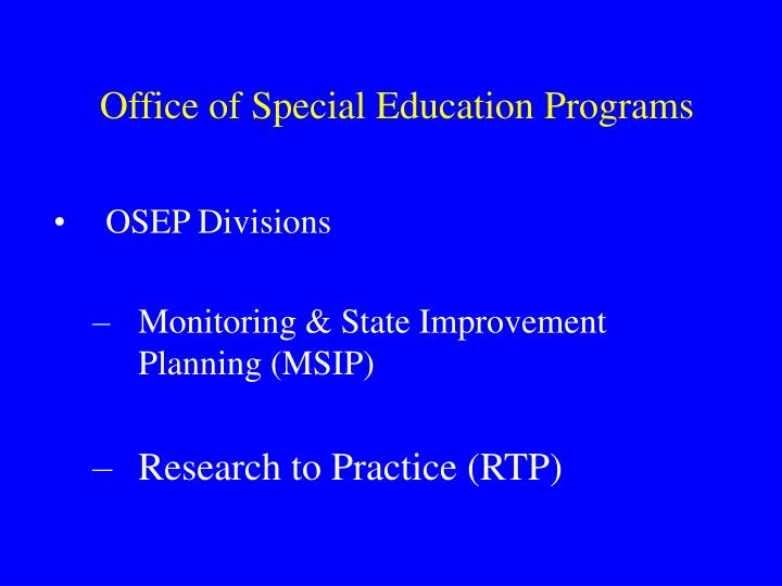 Office of special education programs