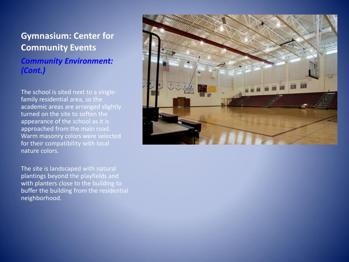 Gymnasium: Center for Community Events