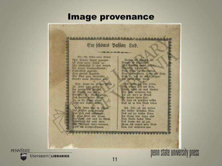 Image provenance