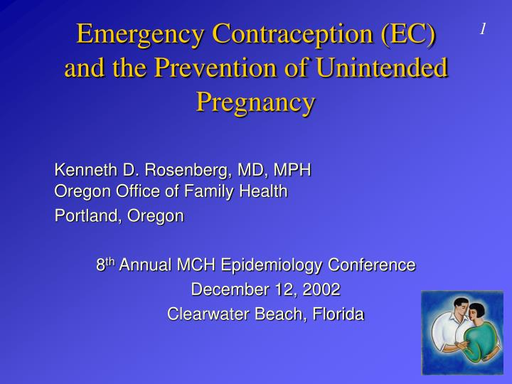 Emergency contraception ec and the prevention of unintended pregnancy