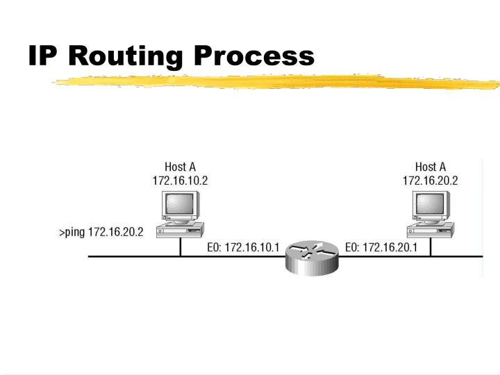 IP Routing Process