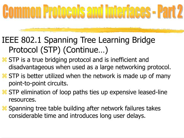 Common Protocols and Interfaces - Part 2