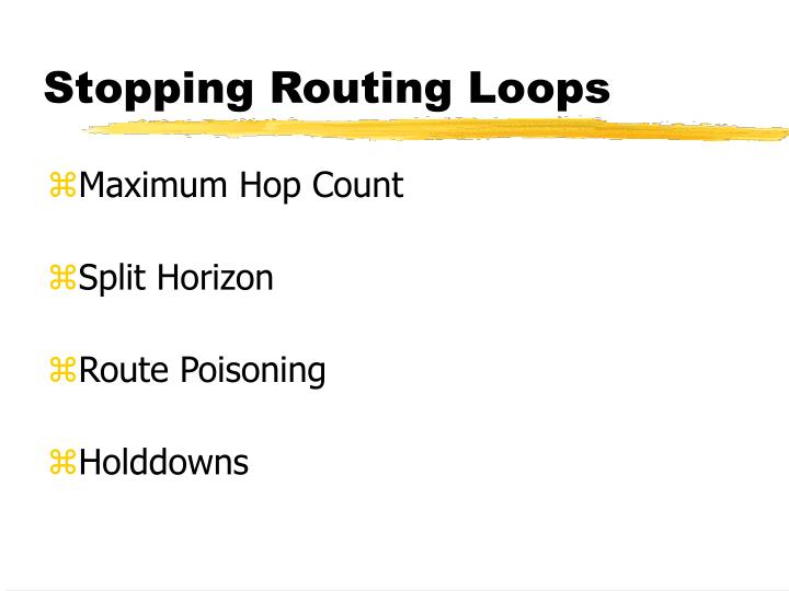 Stopping Routing Loops