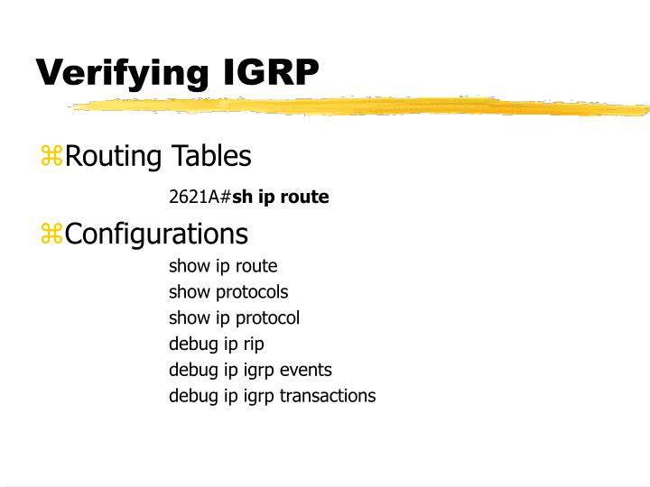 Verifying IGRP