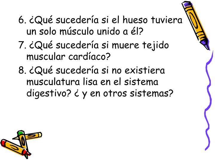6. ¿Qué sucedería si el hueso tuviera un solo músculo unido a él?