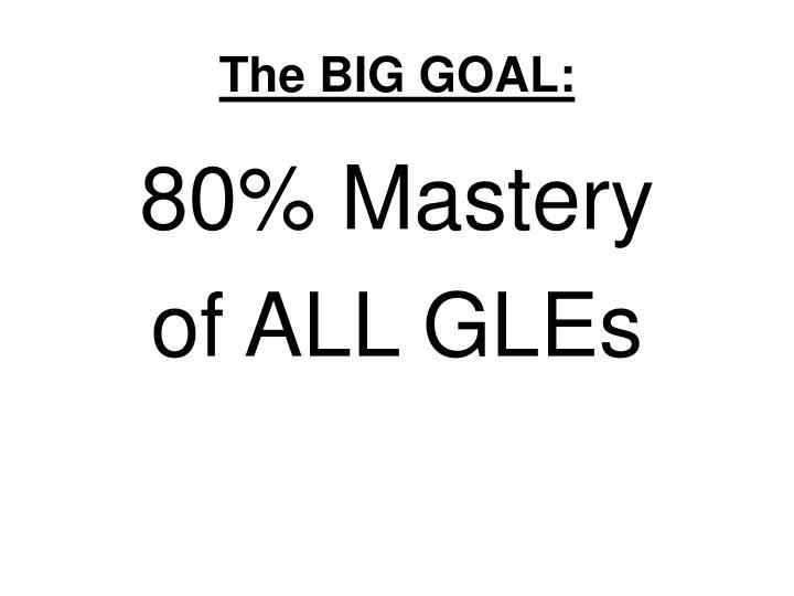 The BIG GOAL: