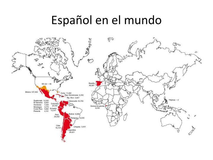 Español en el mundo