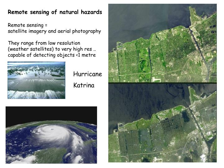 Remote sensing of natural hazards