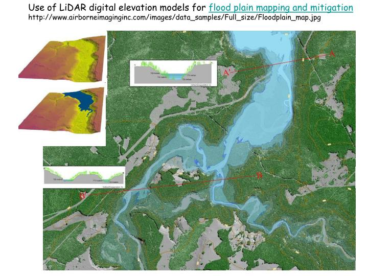 Use of LiDAR digital elevation models for