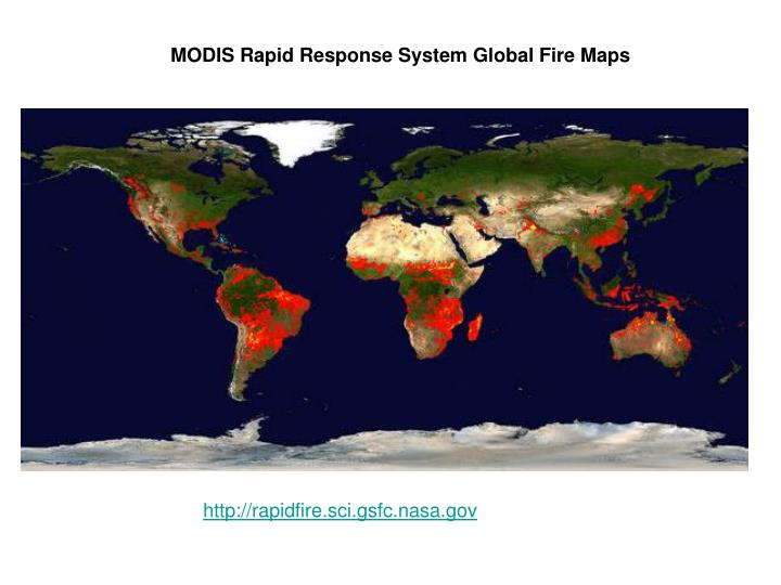 MODIS Rapid Response System Global Fire Maps